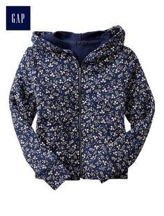 Floral zip hoodie