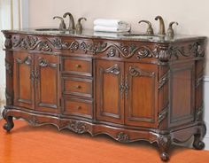 "Northampton 72 Double Bathroom Vanity Set 36"" genoa single bath vanity - harvest 