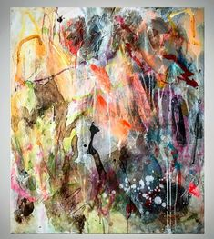 Abstract expressionism . 71cm x 61cm. Mixed. Media.