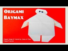Origami BAYMAX - Disney Big Hero 6- Paper Crafts for Kids Easy - YouTube
