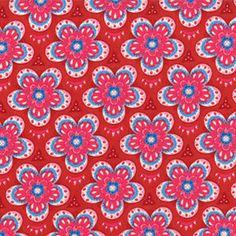 Star Flower Moroccan Red ~ Tradewinds @ Sew,Mama,Sew!