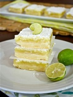 Delicious, buttery, flaky, ooey gooey goodness key lime bars!. Another Pinner- I just made these, and I am eating it hot and it is DELICIOUS. It is sweet and limey and wonderful, although I would add lime juice to the crust.