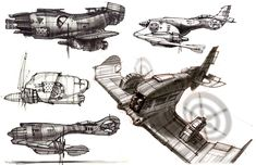 Concept ships by Danny Gardner