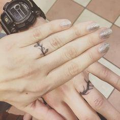 vine wedding band tattoo