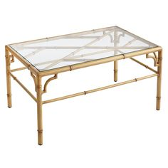 Natural bamboo is durable, but the framing of our Bayan Collection is a bit more so—thanks to its rustproof aluminum construction. The authentic look is a result of hand-finished details, complete with darkened nodes and rings. A tempered glass top completes the design of this unique coffee table that's suited for both indoor and outdoor use.