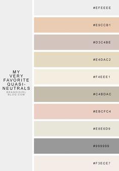 favorite quasi-neutrals - 4 pale citrine Color Palette from Brandi Girl Rgb Palette, Neutral Colour Palette, Neutral Paint, Neutral Tones, Colour Schemes, Color Patterns, Color Combinations, Color Charts, Vintage Color Schemes