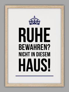 """RUHE BEWAHREN"" Kunstdruck, keep calm"