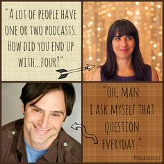 """Matt Gourley interviewed by Lindsay Michael for Podcast Playlist. Host of I Was There Too, The Superego, Pistol Shrimps Radio and James Bonding. Quotes about success, how to make a podcast and being busy. """"A lot of people have one or two podcasts. How did you end up with four?"""" """"Oh, man. I ask myself that question everyday."""""""