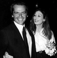 Jack Nicholson and Anjelica Houston