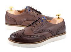 DAYTRIP-1321 D.BROWN Wingtip Shoes