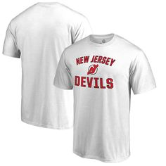 New Jersey Devils Fanatics Branded Big & Tall Victory Arch T-Shirt - White