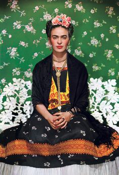 Nickolas Muray - Frida on Bench, 1939 | From a unique collection of color photography at http://www.1stdibs.com/photography/color-photography/