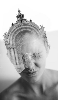 I digital collages dell'artista americano Matt Wisniewski Double Exposure Photography, Fine Art Photography, Amazing Photography, School Photography, Double Exposition, Multiple Exposure, Facial Recognition, Spanish Artists, Foto Art