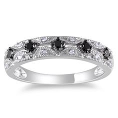 @Overstock.com - Miadora 10k White Gold 1/5ct TDW Black and White Diamond Ring (G-H, I1-I2) - Round black and white diamond ring10-karat white gold jewelryClick here for ring sizing guide  http://www.overstock.com/Jewelry-Watches/Miadora-10k-White-Gold-1-5ct-TDW-Black-and-White-Diamond-Ring-G-H-I1-I2/7396712/product.html?CID=214117 $223.59