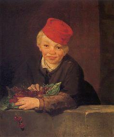 El niño de las cerezas Manet