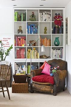 OK - THIS one looks like two Ikea Expedit bookcases - a 4x4 on top of a 2x4 - like the look (also off of Jamie Meares' Flickr Stream, off isuwannee.com)