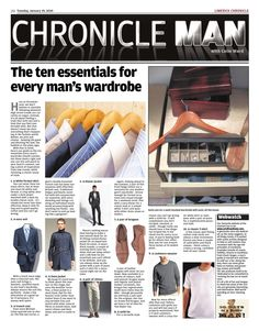 Chronicleman by Colm Ward, via Behance Chronicle Newspaper, Editing Writing, Behance, Mens Fashion, Style, Male Fashion, Swag, Man Fashion, Men Fashion