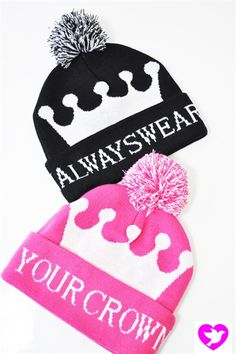 The Always Wear Your Crown beanie. Always wearing your crown is a state of mind.