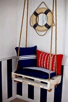 25 Raklapból készült gyönyörű kerti bútor ~ Készítsd Otthon