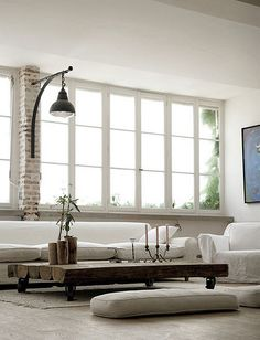 ♂ Neutral grey home deco natural style living