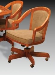 I M  David 5407GC Adjustable Height Swivel Tilt Caster Chair  Dining ChairsThe Paula dinette set made by Douglas Casual Living is comfortable  . Powell Hamilton Swivel Tilt Dining Chair On Casters. Home Design Ideas