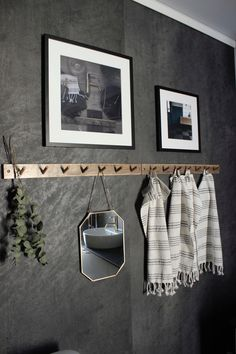 Fibo-trespo bathroom black grey Lentini Dark Laundry Room, Black And Grey, Household, Bathroom Black, Closet, Tile, Dark, Street Styles, Bathing