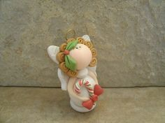 Christmas Angel by countrycupboardclay on Etsy, $8.95