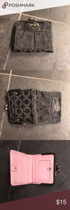 Authentic, Coach wallet in great condition! This wallet is in great condition with minimal signs of wear. There is a spot for ID, coins, cash and multiple cards. It comes from a smoke/dog free home. Coach Bags Wallets