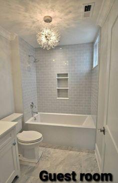 Bathroom Design Small, Bathroom Interior Design, Modern Bathroom, Small Bathroom With Tub, Bathtubs For Small Bathrooms, Small Bathroom Ideas On A Budget, Small Bathroom Chandelier, Small Bathroom Plans, Master Bathrooms
