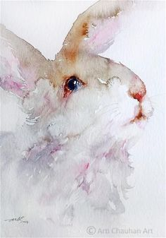 """Daily Paintworks - """"Woolly Rabbit"""" by Arti Chauhan"""