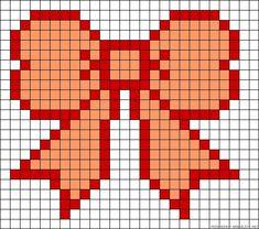Bow perler bead pattern