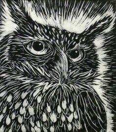 Owl Linoleum Print by darkenedhearte on DeviantArt Linoleum Block Printing, Scratch Art, Owl Art, Tampons, Linocut Prints, Woodblock Print, Artwork Prints, Printmaking, Deviantart