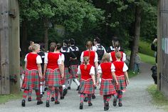 Kilts from the back with red vests #British #Columbia #Other #Tartan