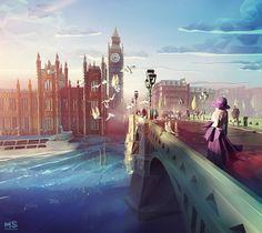 Geometric Illustrations of Cities and Landscapes – Fubiz Media