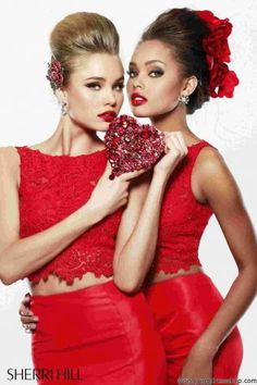 2014 Stunning Red Sherri Hill Homecoming Dress 21372