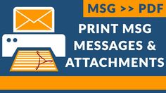 Print MSG Email Messages and Attachments as PDF Documents