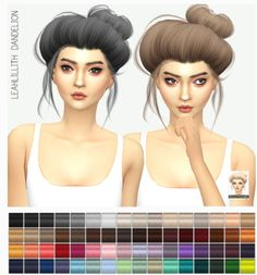 Miss Paraply: LeahLillith`s Dandelion solid hairstyle retextured • Sims 4 Downloads