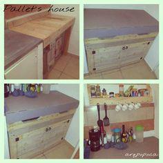 Mueble de cocina con Pallets reciclados