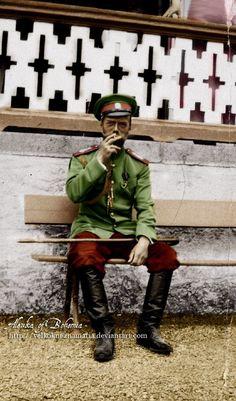 Alexandrovich Romanov the last Emperor of Russia. Originally black and white image coloured by me. Tsar Nicolas, Tsar Nicholas Ii, Last Emperor, Russian Literature, Imperial Russia, Russian Art, World War I, Captain America, Nostalgia