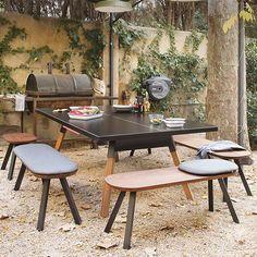 Table De Ping Pong & Bancs You And Me RS Barcelona JardinChic