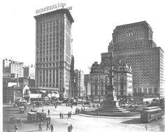 Columbus Circle, Circa 1924  when my grandma lived around the corner