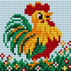 4 by 4 Multicolor RTO H199 14 Count a Cup of Coffee in The Morning Counted Cross Stitch Kit