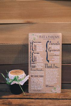 wedding program // photo by J Wiley Photography // stationery by MaKenzie Dykstra