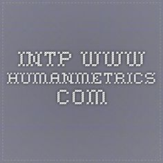 INTP www.humanmetrics.com
