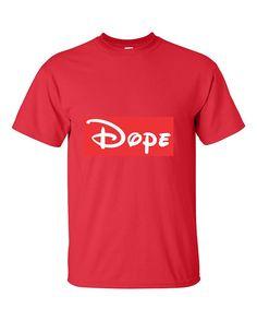 Cartoon Writing Dope Dope Fashion T-Shirt