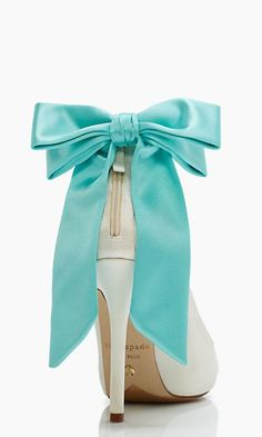 tiffany blue bow heels #katespade