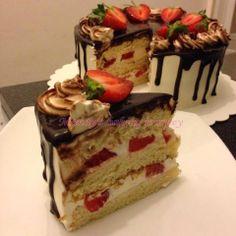 Mandy's baking journey: Strawberry cake with mirror glaze