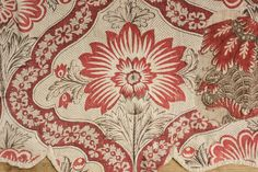 18th century antique French textile ~ wonderful block printed valance Indienne ~ ideal for any museum or private collection ~ www.textiletrunk.com