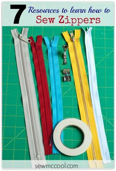 How to sew zippers by sewmccool.com. Great resources for learning how to sew zippers!