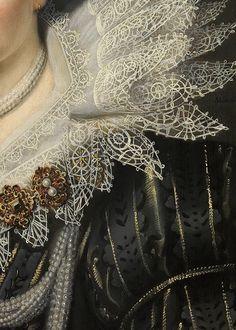 """sforzinda: """" Portrait of a Lady (detail), Michiel Jansz. van Mierevelt, 1620 """""""
